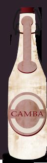 Illustrierte Camba Bierflasche