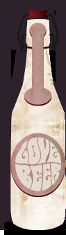 Illustrierte Lovebeer Bierflasche