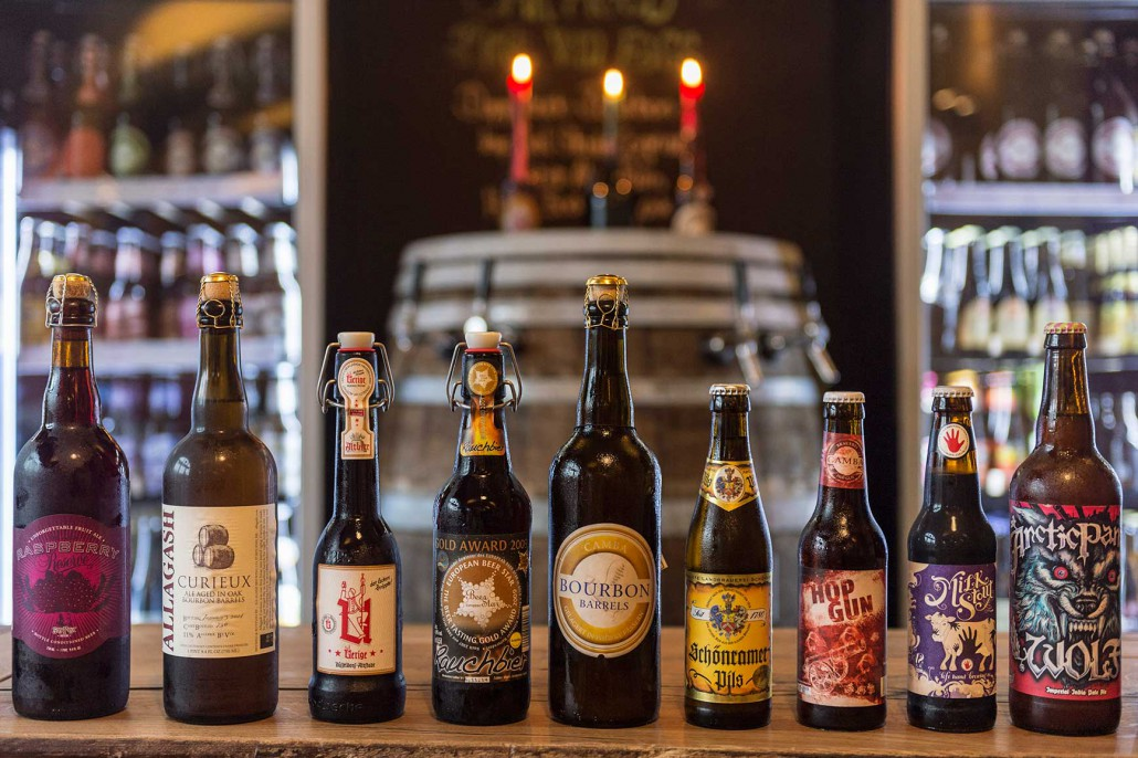 Selected top beers from around the world.