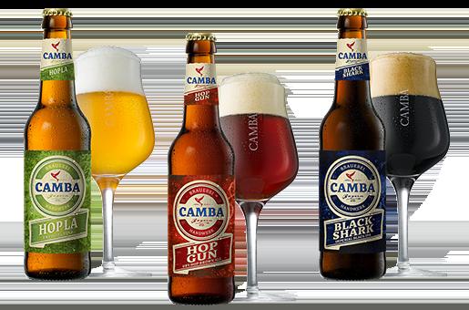 3 Camba Bierspezialitäten in Glas und Flasche